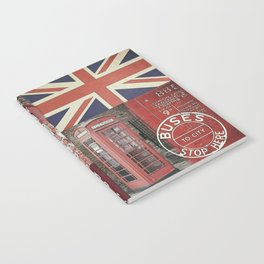 Great Britain London Union Jack England Notebook