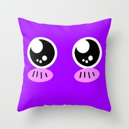 Squish Monster Embarrassed Throw Pillow
