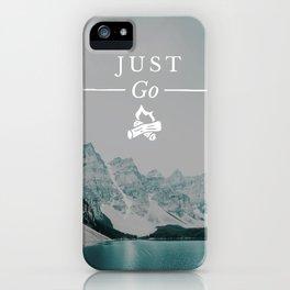 Just Go - Moraine Lake iPhone Case