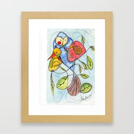 Crowded branch Framed Art Print