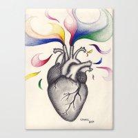 creativity Canvas Prints featuring Creativity by Kaylyn Powell