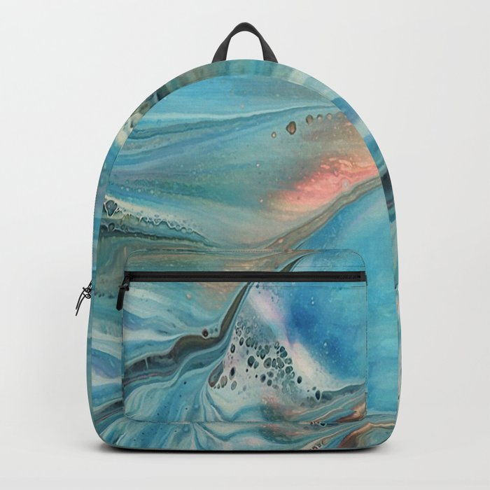 Pearl marble abstraction Backpack