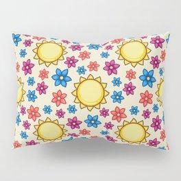 Shiny Floweria Pattern Pillow Sham