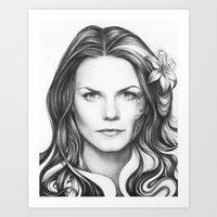 house md Art Prints featuring Dr. Cameron-House MD-Jennifer Morrison-Portrait by Olechka
