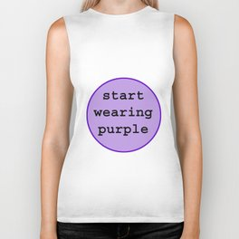 Start Wearing Purple Biker Tank