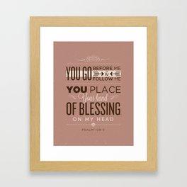 Psalm 139:5 Bible Verses Framed Art Print