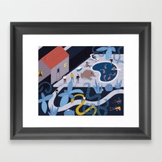 Pool Party  Framed Art Print