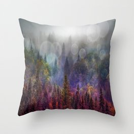 Four Seasons Forest Throw Pillow