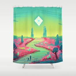 PHAZED PixelArt 3 Shower Curtain