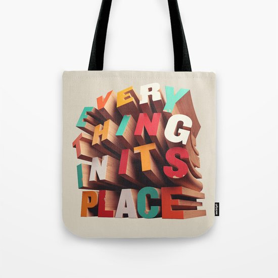 Everything In Its Place Tote Bag
