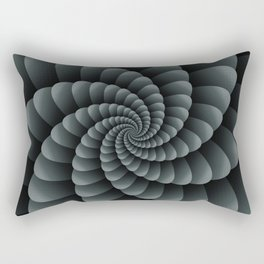 PPG Night Watch Pewter Green Nautical Swirl Digital Design - Nautilus Swirl Rectangular Pillow