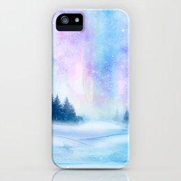 Watercolor Winter Scenery iPhone Case