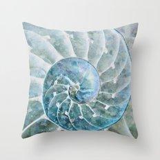 Open Nautilus  Throw Pillow