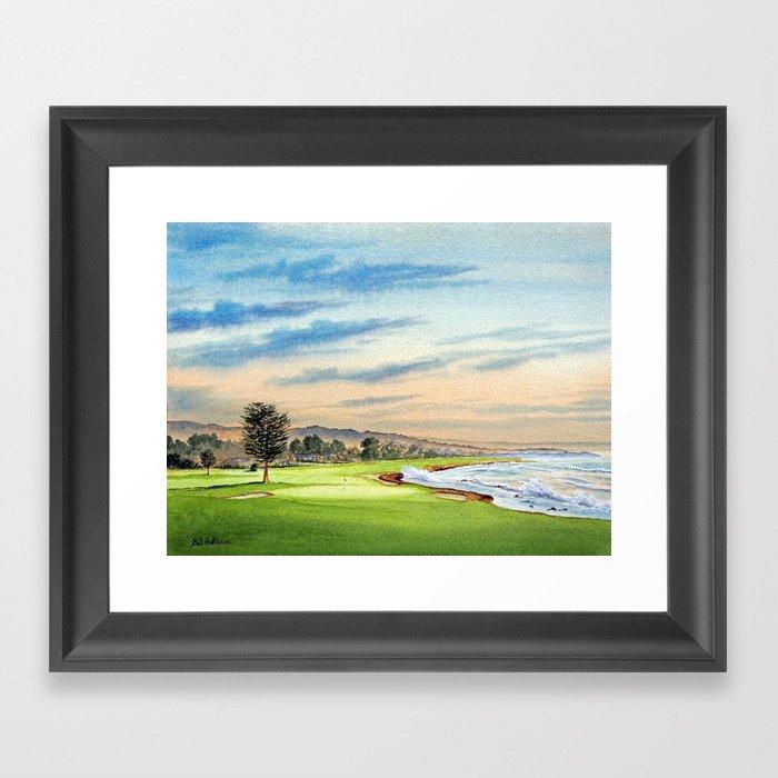Pebble Beach Golf Course 18th Hole Gerahmter Kunstdruck