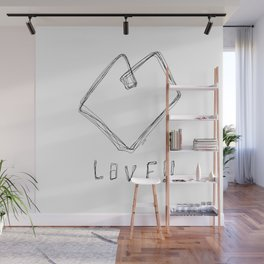 Love! Love! Love! - Heart Illustration Pop Art Wall Mural