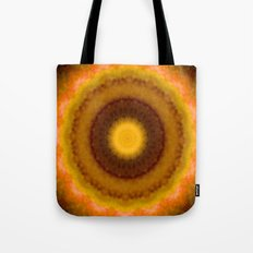 Lovely Healing Mandalas in Brilliant Colors: Brown, Pink, Gold, Yellow, Pink and Green Tote Bag