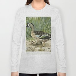 Blue-Winged Teal (Anas Discors Linn) illustrated by JL Ridgway (1859-1947) and WB Gillette (1864-193 Long Sleeve T-shirt