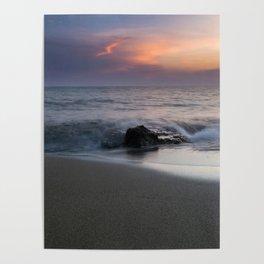 Sunset, Sea, Landscape, Greece, Photography Poster