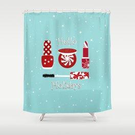 Super Cute Makeup Holiday Design Shower Curtain