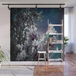 Flowers Purple & Teal Wall Mural