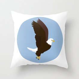 Bald Eagle Throw Pillow