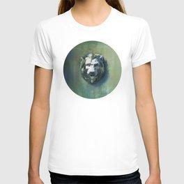 Lion Head Green Marble T-shirt