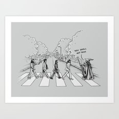 Here comes the Wizard Art Print