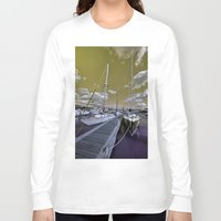 marina Long Sleeve T-shirts featuring Cowes Marina  by Rob Hawkins Photography