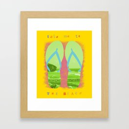 pure shores Framed Art Print