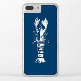 Nautical Themes, Lobster in Blue Clear iPhone Case