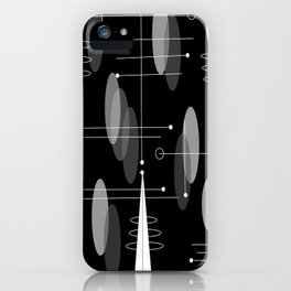 Atomic Space Age Black iPhone Case
