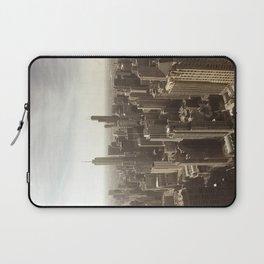 Chicago Buildings Sears Tower Sky Sun Color Photo Laptop Sleeve