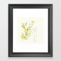 in spring Framed Art Print