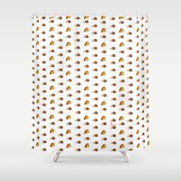 taco Shower Curtains featuring Taco by AlexavierTaiga