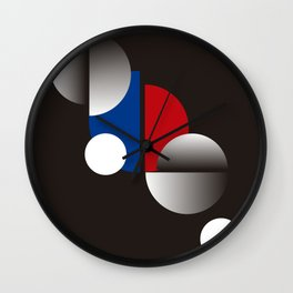 Modern geometric abstract 11 Wall Clock