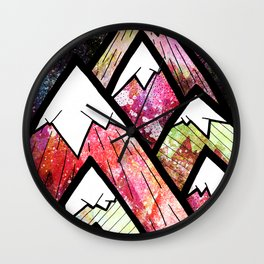 As the high peaks grow Wall Clock