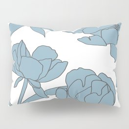 Roses in Blue Pillow Sham