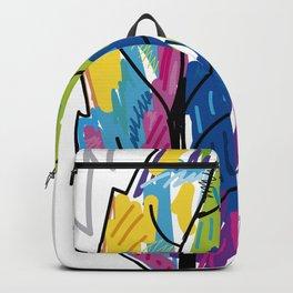 colorful leaf illustration design Backpack