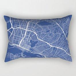 Oakland Map, USA - Blue Rectangular Pillow