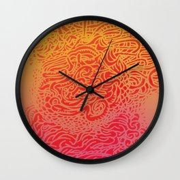 Raspberry Sunrise Wall Clock