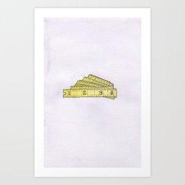 Flexible Tape Measure Watercolor Art Print