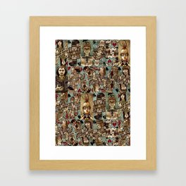 Requiem Playing Cards - Jokers and Courts Framed Art Print