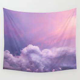 Sunset and Clouds | Blush Pink | Unicorn | Sky Wall Tapestry