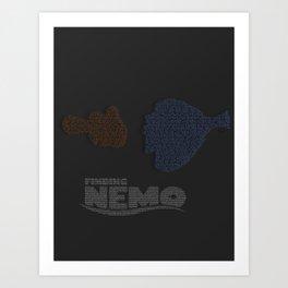 Finding Nemo Typography Art Print