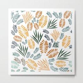 Safari Leaf Pattern Design Metal Print