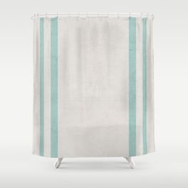 french linen - robins egg blue Shower Curtain