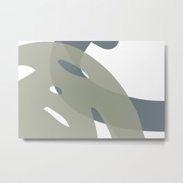Abstract hand-drawn sketch the contours of modern contemporary boho elements isolated home wall decor simple. Metal Print