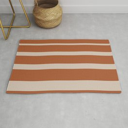 Gradient Stripes in Clay and Putty Rug