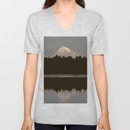 Mount Hood Reflection Unisex V-Neck