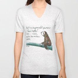 Sloth Thoughts Unisex V-Neck